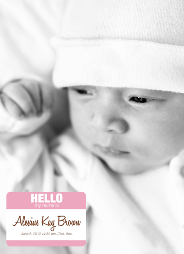 birth announcements - Baby Name Tag - Girl version 1 by Trisha Allex
