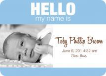 Baby Name Tag - Boy ver... by Trisha Allex