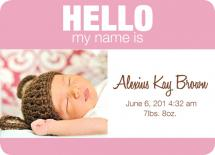 Baby Name Tag - Girl ve... by Trisha Allex