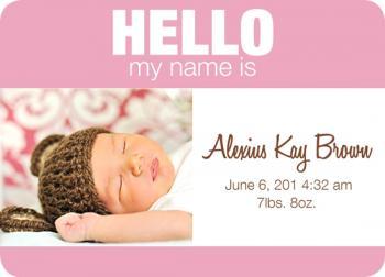 Baby Name Tag - Girl version 2