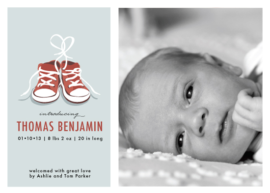 birth announcements - Tiny Sneakers by Laura Condouris