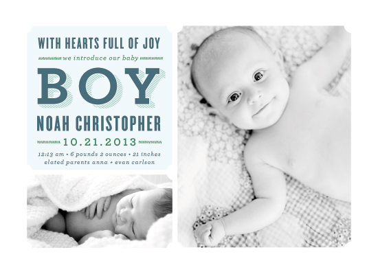 birth announcements - Full of Joy by Melanie Severin