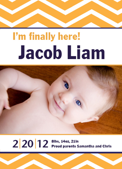 birth announcements - I'm Finally Here! by Joanna Collar