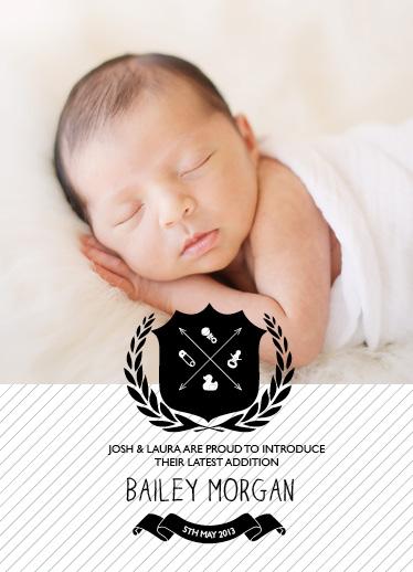 birth announcements - Baby Shield by Jordan Bariesheff