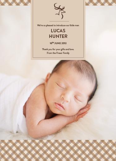 birth announcements - Handsome Stag by Jordan Bariesheff
