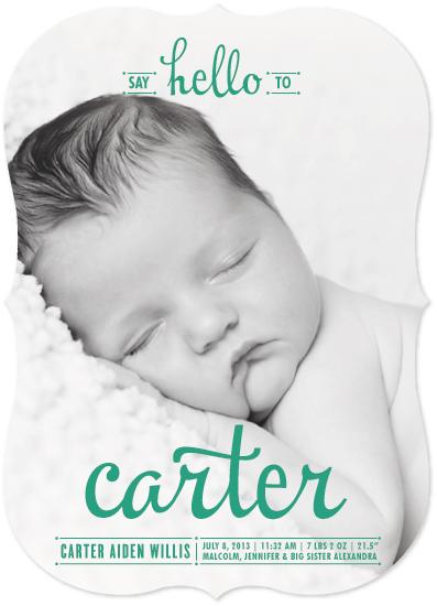 birth announcements - Say Hello by Melanie Severin