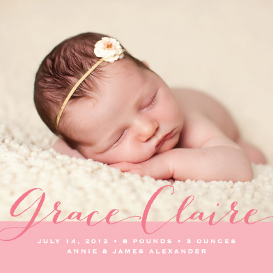 birth announcements - Baby Script by Catherine Sullivan