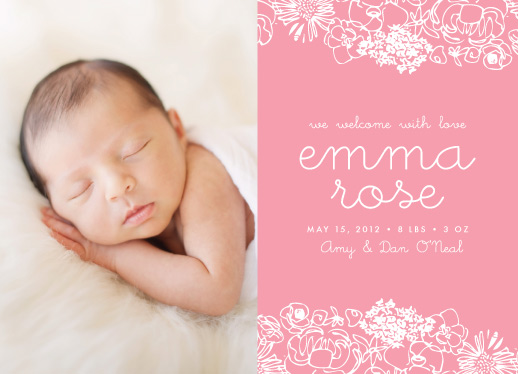 birth announcements - Baby in Bloom by Catherine Sullivan