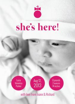 Modern Baby Girl Bow