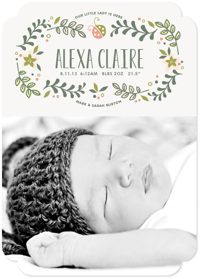 birth announcements - Sweet Little Lady by Melanie Severin