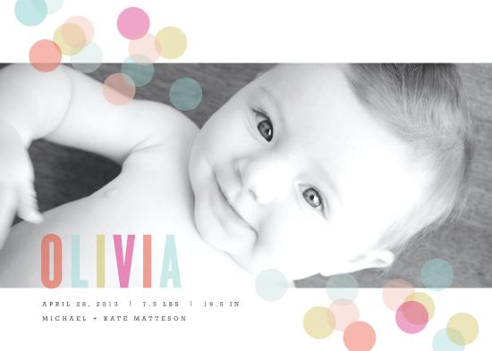 birth announcements - Confetti by Kristie Kern