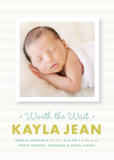 birth announcements - Worth It by Paper and Parcel