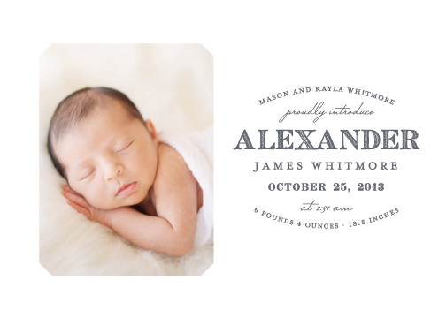 birth announcements - Simplicity by Sarah Guse Brown