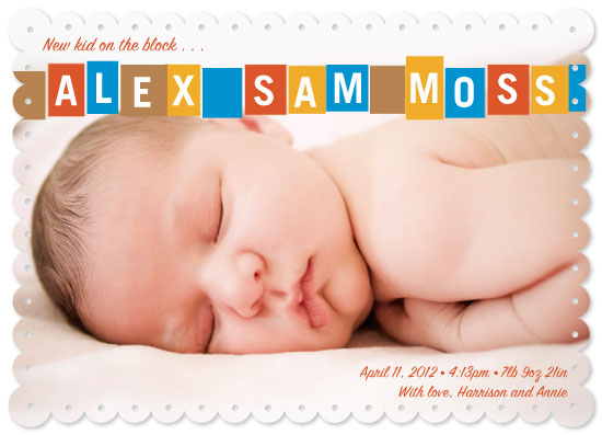 birth announcements - New Kid on the Block by Rebecca Seltzer