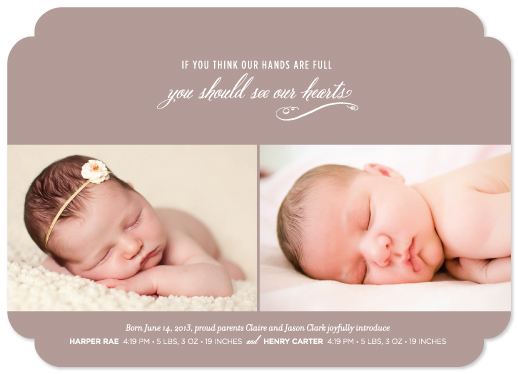 birth announcements - Full Hands, Full Hearts by sweet street gals