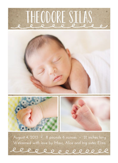 birth announcements - Naturally Yours by Kelsey Clanton