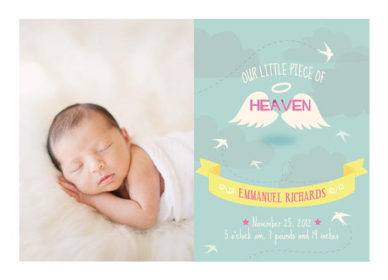 birth announcements - Piece of Heaven by Maddie Enriquez