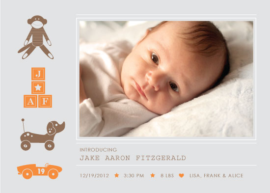 birth announcements - Nostalgic Blocks and Toys by Rebecca Schyllander