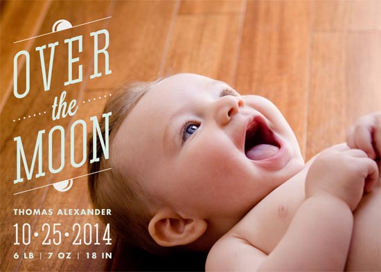 birth announcements - Over The Moon by Monica Tuazon