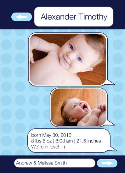 birth announcements - Text Message by Megan Hain