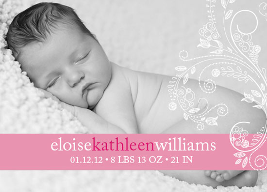 birth announcements - Simple Banner by Elizabeth Silver