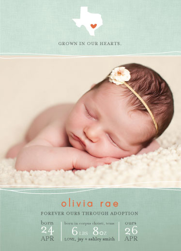 birth announcements - locally grown by R studio