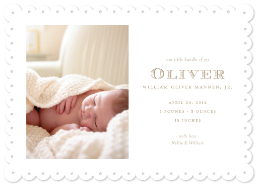 birth announcements - Nantucket by Toast & Laurel