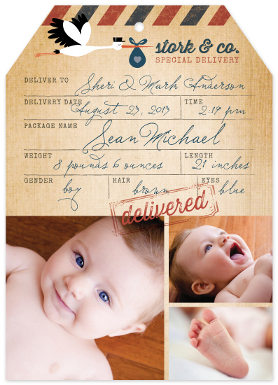 birth announcements - Special Delivery by Dawn Jasper