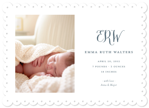 birth announcements - Hampton by Toast & Laurel