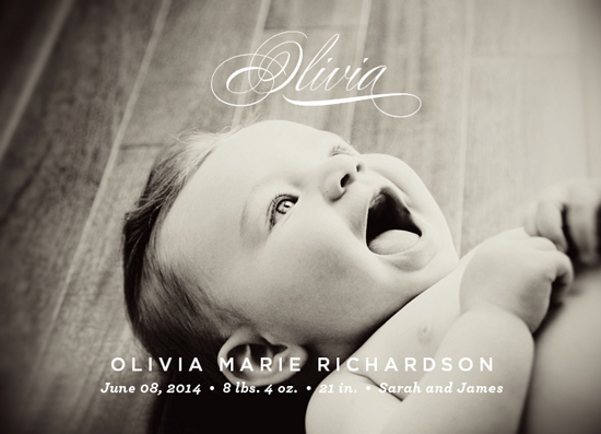 birth announcements - Precious Name by Oscar & Emma