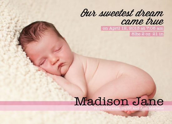 birth announcements - Sweetest Dream by amber g.