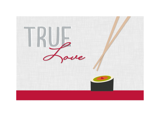 art prints - Sushi Love by Laura Mitzelfelt