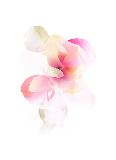 art prints - Pooled Petals by kelli hall