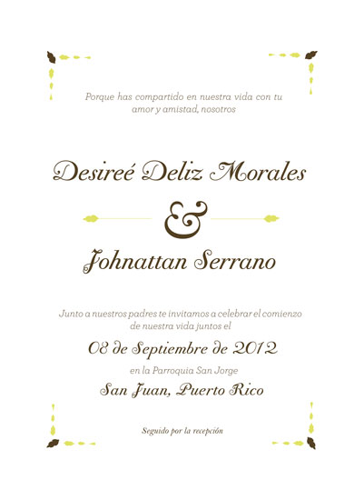 art prints - Desiree wedding invitation by Lydian Vargas