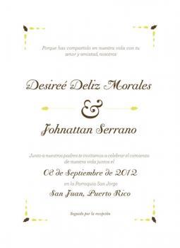 Desiree wedding invitation