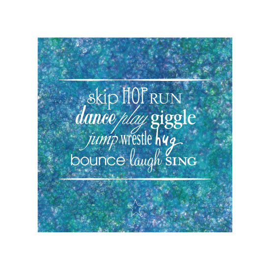 art prints - Skip Giggle & Laugh by Kim Williams