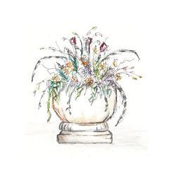 Flower Cascade in Vase