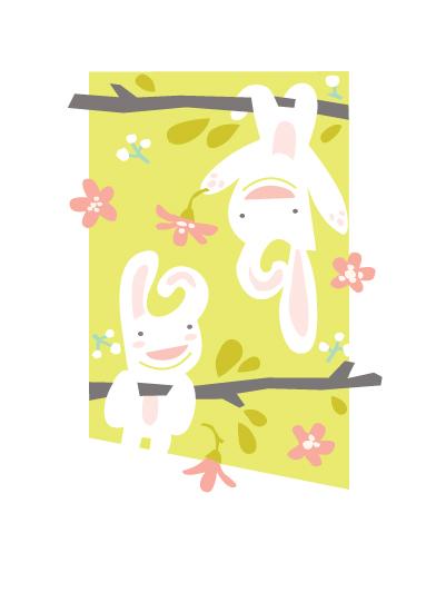 art prints - Bunny Love by Maddie Enriquez