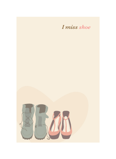art prints - I Miss Shoe by Maddie Enriquez