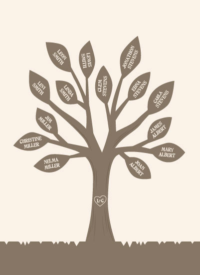 art prints - Family Tree Chart by Jessie Steury