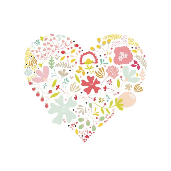 art prints - Floral Heart by Phrosne Ras