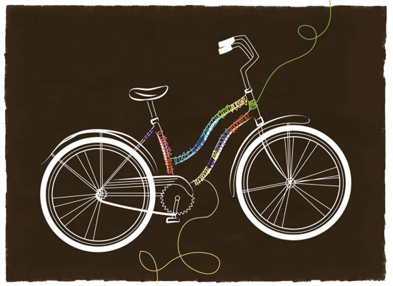 art prints - City Bike by Jeni Paltiel