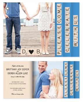 Scrabble Wedding Invitation