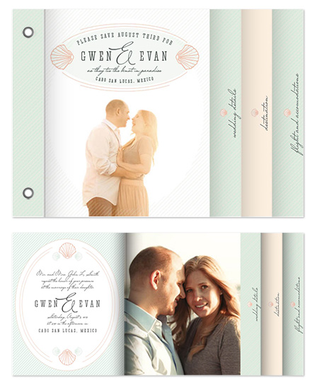 minibook cards - Tying the knot in paradise by Whitney Maass