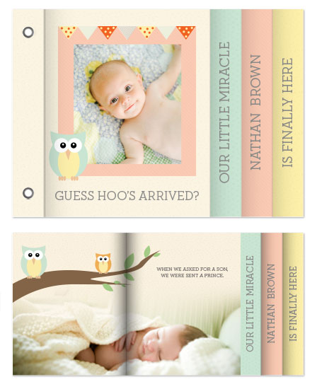 minibook cards - Hoot Hoot by Sole Paper Co.