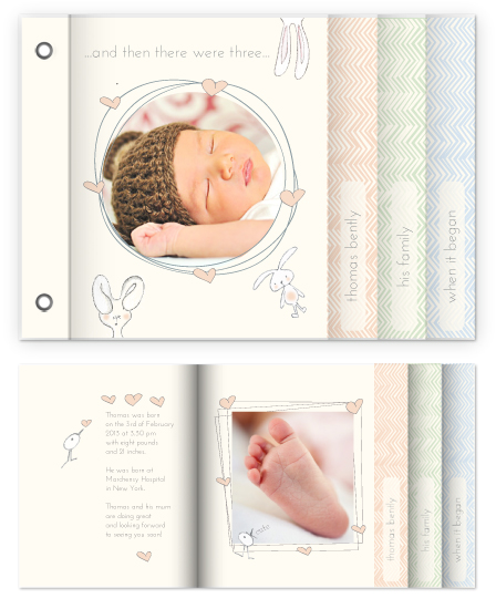 minibook cards - And then we were three... by Lulaloo