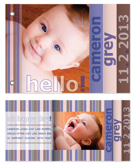 minibook cards - A simple hello Baby Booklet by AmberOK