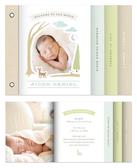 minibook cards - Woodland beginnings by Jennifer Wick