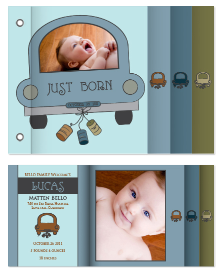 minibook cards - Just Born by Marnie Bello