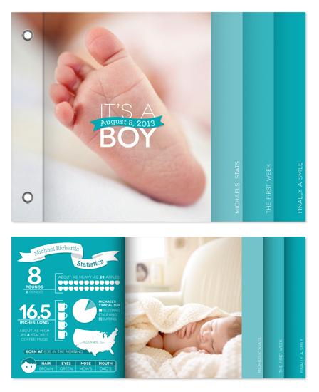 minibook cards - Modern Baby by GeekInk Design